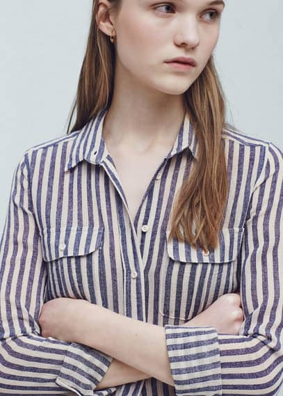 Camisa rayas algodón | MANGO