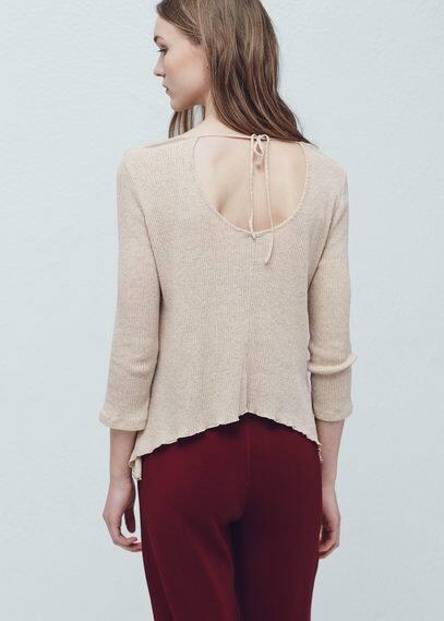 Camiseta algodón canalé | MANGO
