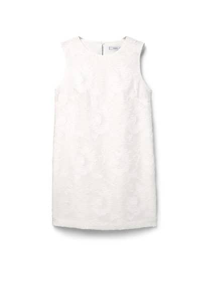 Robe Cintrée Texturée - Ajusté, col rond, sans manches, finition texturée, détail d'ouverture au dos, fermeture en goutte à l'arrière, doublure.