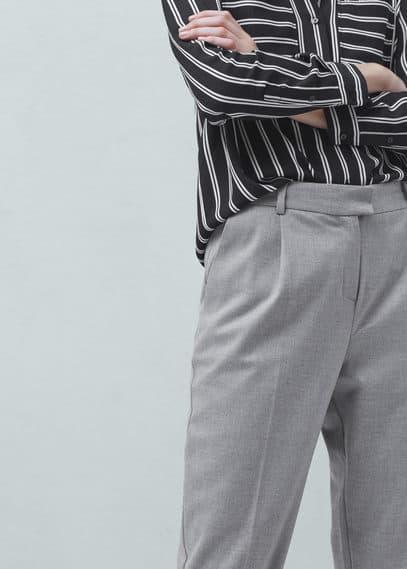 Anzughose mit bundfalten | MANGO