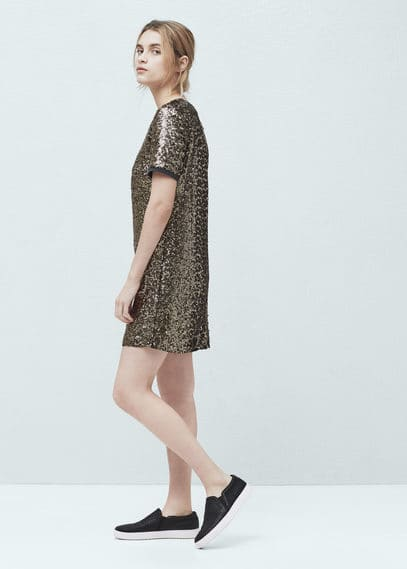 Robe à sequins | MANGO