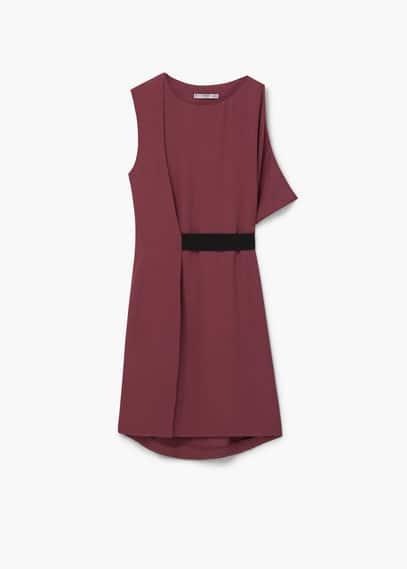 Robe ceinture contrastante | MANGO