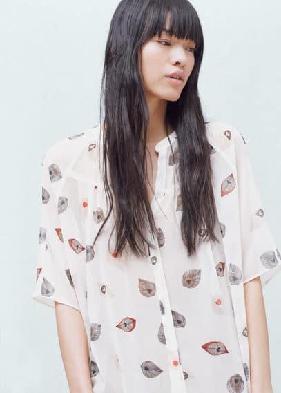 Printed flowy shirt | MANGO