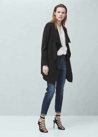 Decorative buckle coat | MANGO