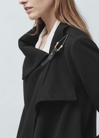 装饰性搭扣大衣 | MANGO