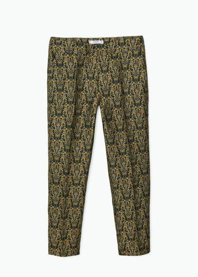 Jacquard suit trousers | MANGO