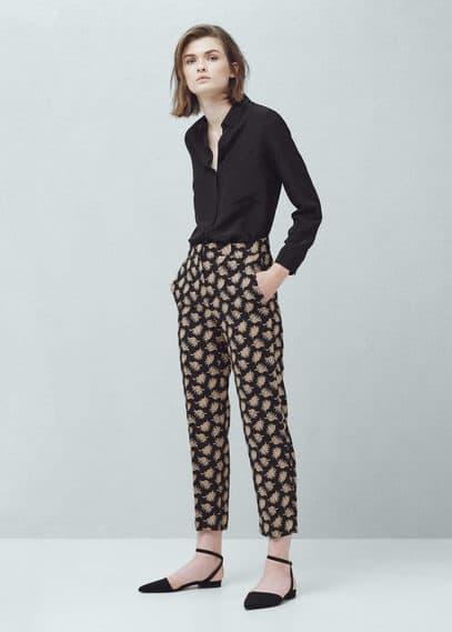 Floral print trousers   MANGO