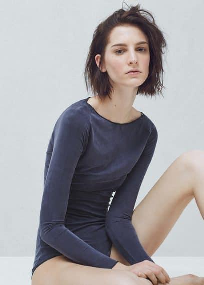 Premium - cupro bodysuit | MANGO