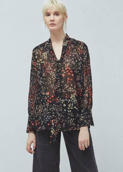 Floral print shirt | MANGO