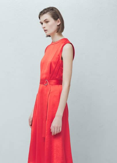 Belt satin dress | MANGO