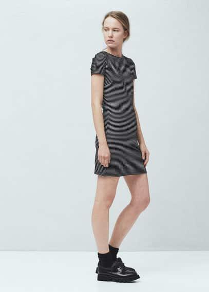 Stripe textured dress   MANGO