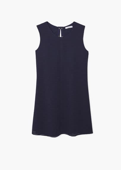 Strukturiertes kleid mit band | MANGO