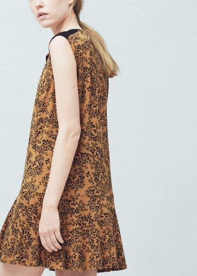 Robe imprimée évasée | MANGO