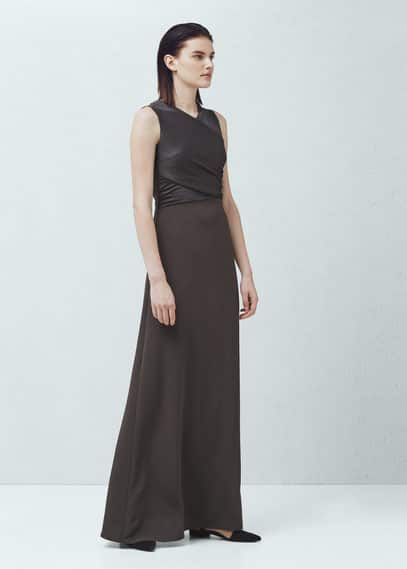 Draped dress | MANGO