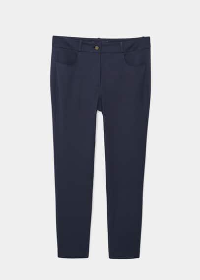 Katoenen straight-fit broek | VIOLETA BY MANGO