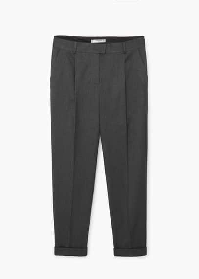 Pantalon motif chevrons | MANGO