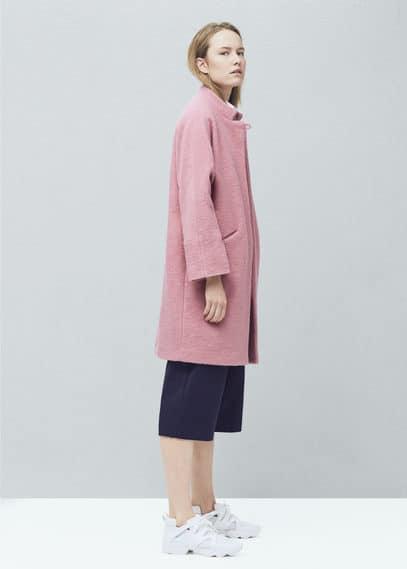 Wollen jas met zakken | MANGO