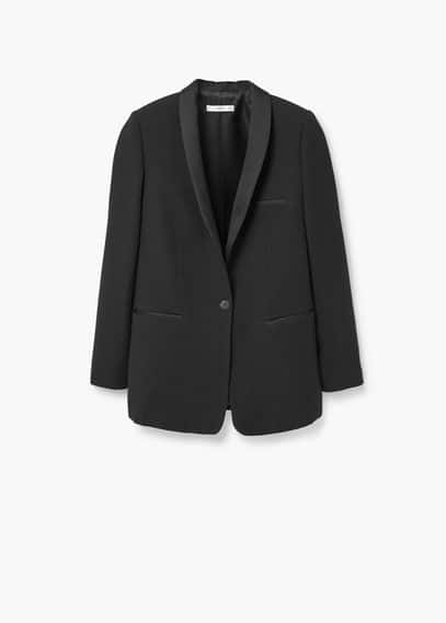 Satin lapels blazer | MANGO