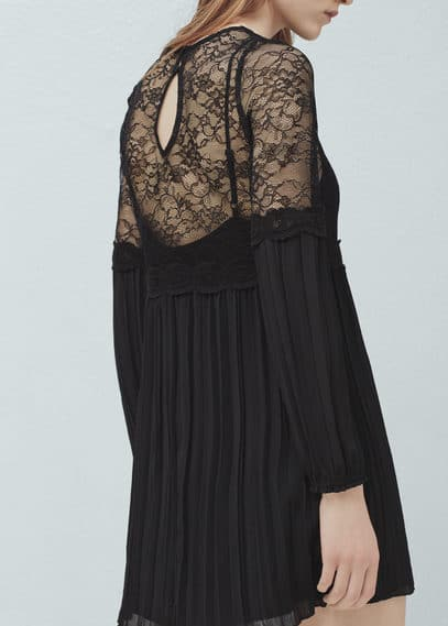 Lace panel dress | MANGO