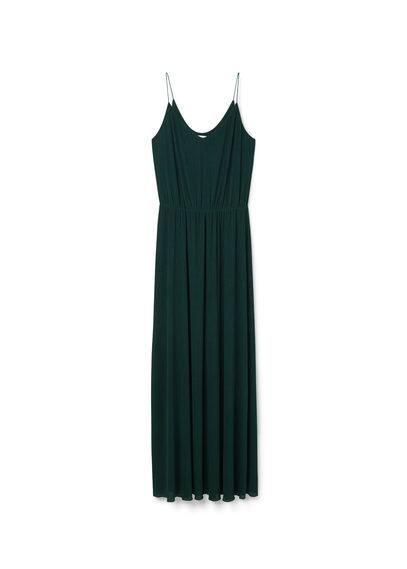 Robe Taille Élastique - Bretelles fines, col rond, taille élastique, doublure.