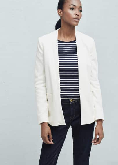 Textured cotton blazer | MANGO