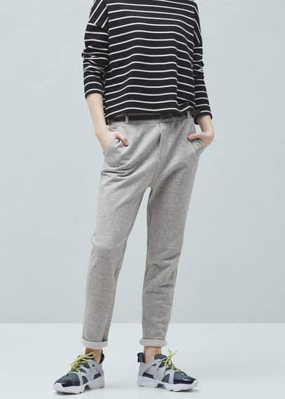 Pantalon jogging poches | MANGO