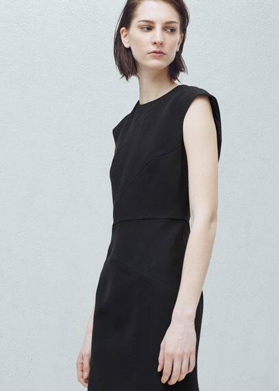 Seam-detail shift dress | MANGO