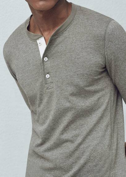 Henley-shirt | MANGO MAN