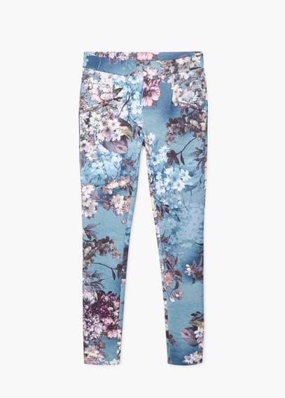 Floral print leggings | MANGO