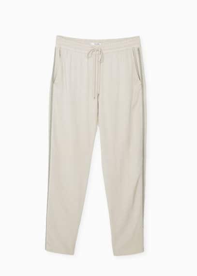 Pantalón baggy ribetes | MANGO