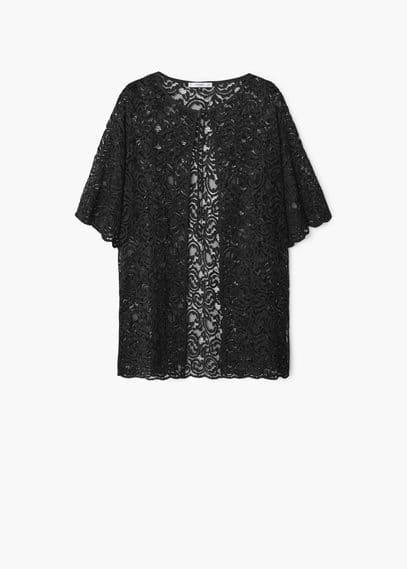Veste guipure | MANGO
