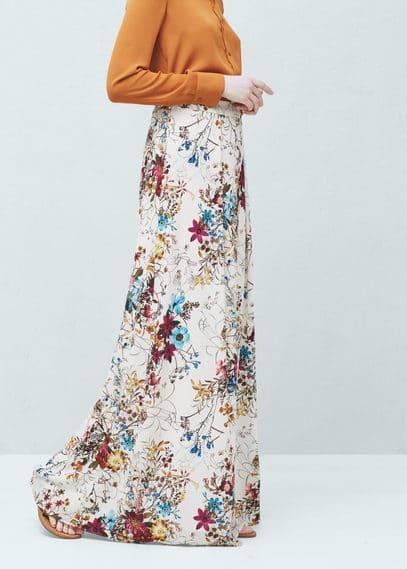 Falda estampado floral | MANGO
