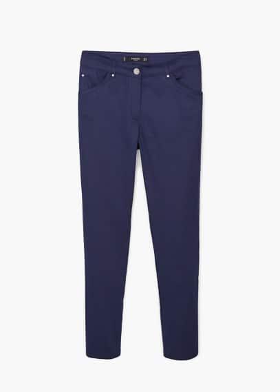 Katoenen straight-fit broek | MANGO