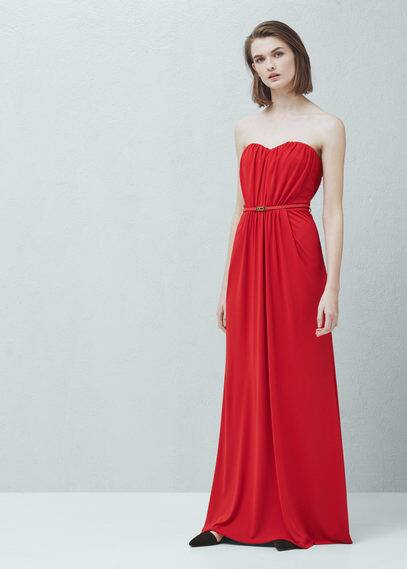 Strapless dress | MANGO