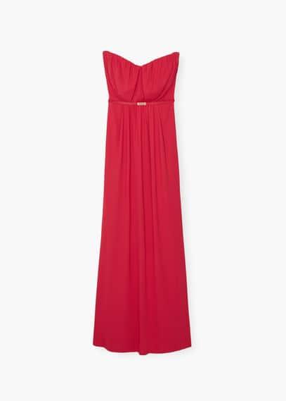 Strapless dress | MANGO