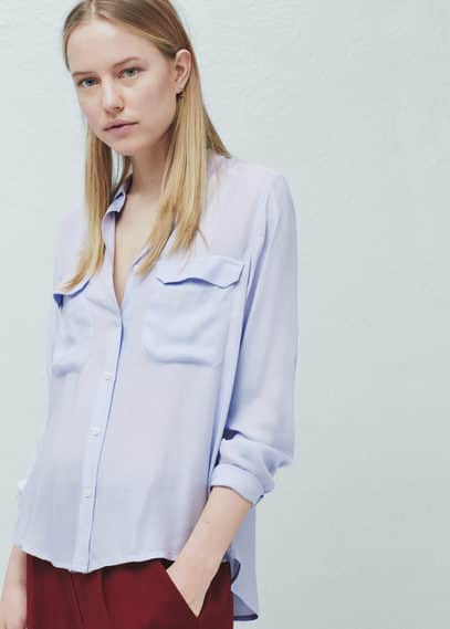 Flap pocket shirt | MANGO