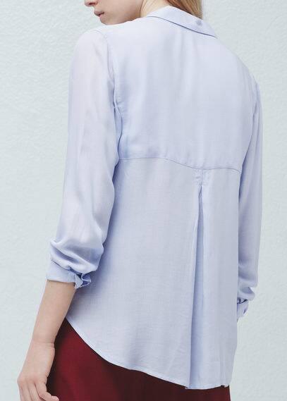 Рубашка с накладными карманами   MANGO