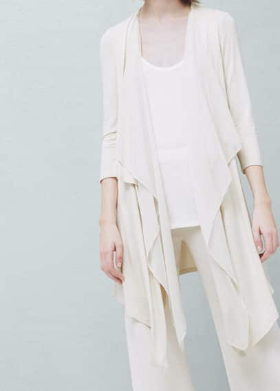 Waterfall cardigan | MANGO
