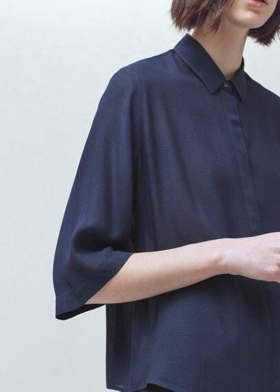 Textured flowy blouse | MANGO