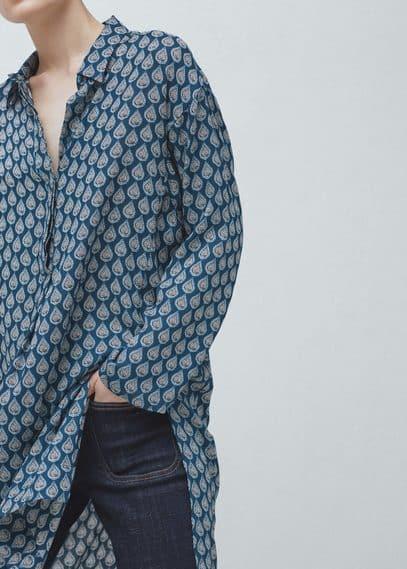 Blusón estampado | MANGO