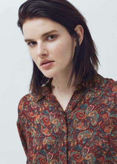 Printed blouse | MANGO