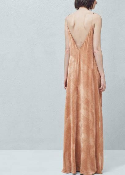 Vestido largo terciopelo | MNG