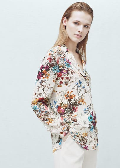 Camisa estampado floral | MANGO