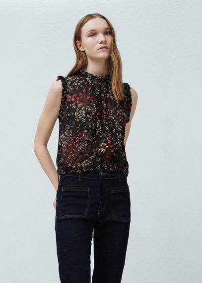 Top estampado floral | MANGO