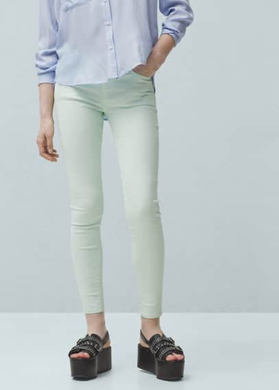Skinny cotton trousers | MANGO