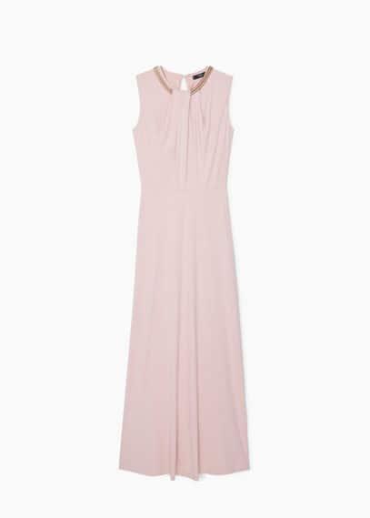 Kleid mit ketten-detail | MANGO