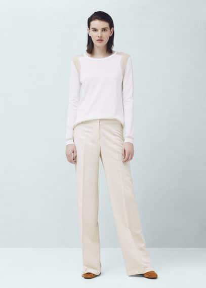 Pantalón palazzo lino | MANGO