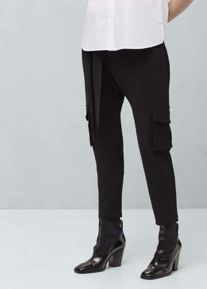 Textured baggy trousers | MANGO