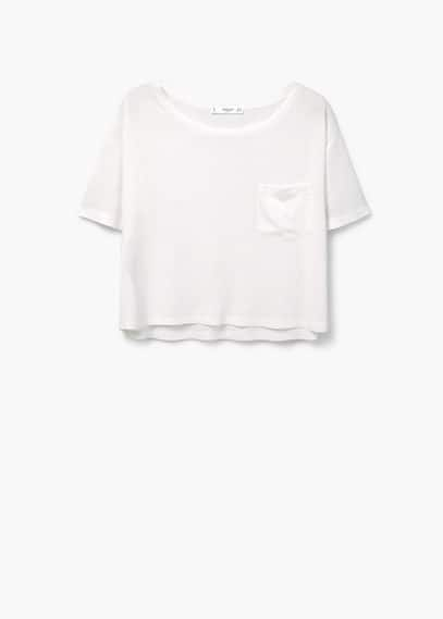 Camiseta bolsillo | MANGO