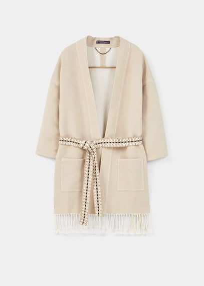 Textured cotton-blend jacket | VIOLETA BY MANGO